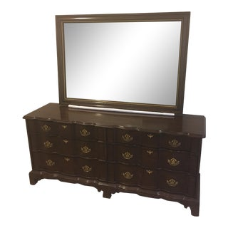 Harden Solid Cherry Dresser and Harden Mirror For Sale