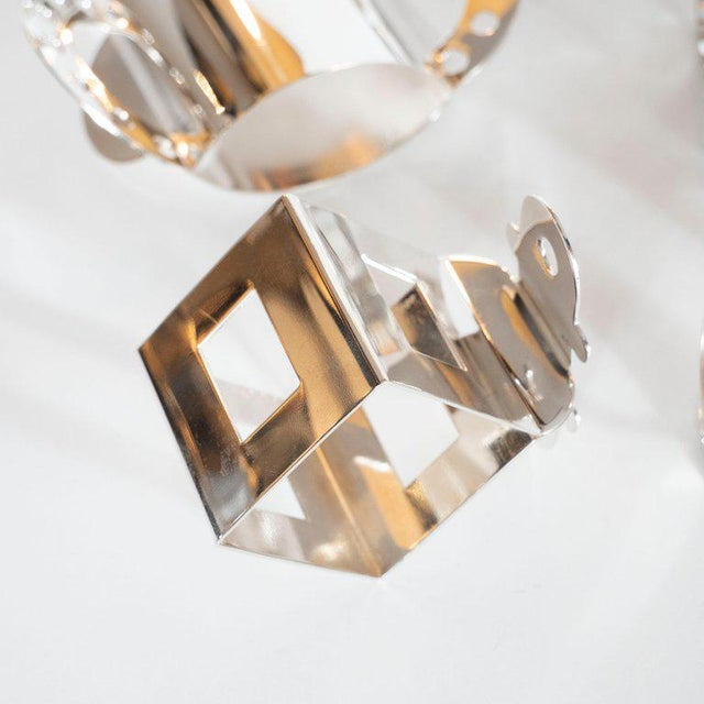 Modernist Memphis Silverplate Napkin Rings by Nathalie Du Pasquier for Bodum - 11 Pc. For Sale - Image 10 of 11