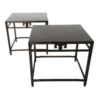Stunning Pair of Ebonized Side Tables Michael Taylor for Baker For Sale