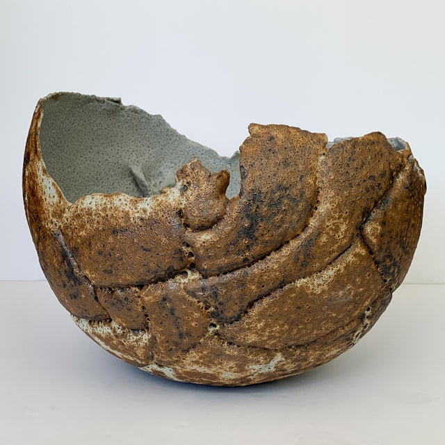 Monumental Stoneware Vessel or Bowl by Michael Becker For Sale - Image 4 of 13