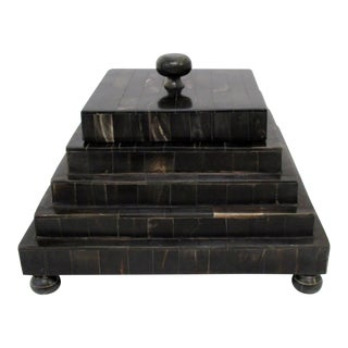 Bone Tile Footed Storage Box
