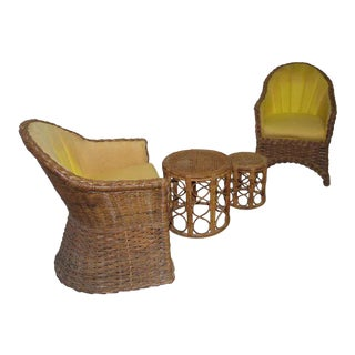 1960s Wicker Chairs & Tables