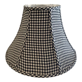 Country Shabby Chic American Style Black and White Lamp Shade For Sale