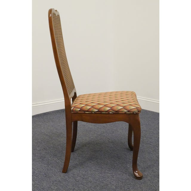 Wood Late 20th Century Vintage Georgetown Galleries Solid Cherry Cane Back Side Chair For Sale - Image 7 of 10