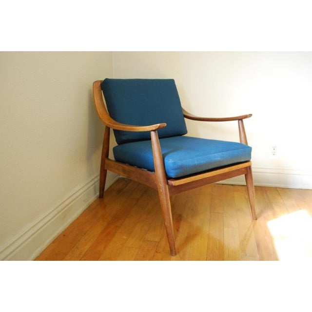 Danish Modern Vintage Lounge Chair With New Upholstery by Peter Hvidt - Image 2 of 8