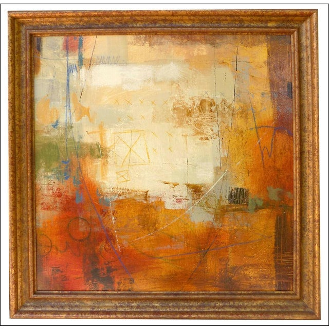 Abstract Ursula J Brenner Paintings Original Abstracts on Canvas - a Pair For Sale - Image 3 of 5