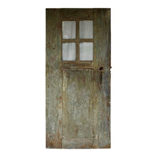 Antique Door with Original Glass For Sale
