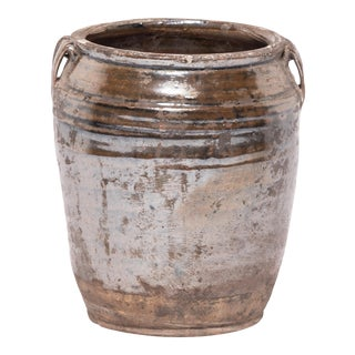 Chinese Glazed Kitchen Jar For Sale