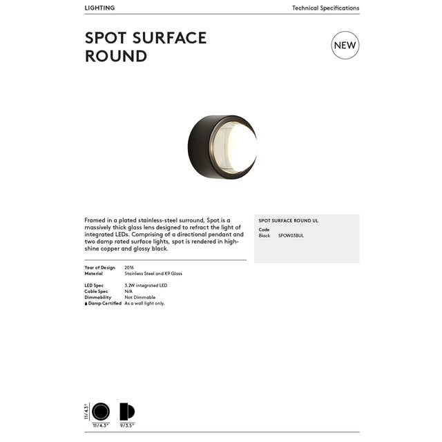 Tom Dixon Spot Surface Round Copper For Sale - Image 10 of 12