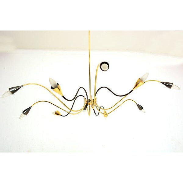 """For your consideration an amazing large chandelier (46"""" in diameter) with ten (10) arms. Solid brass construction..."""