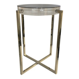 Contemporary Acrylic Side Table For Sale