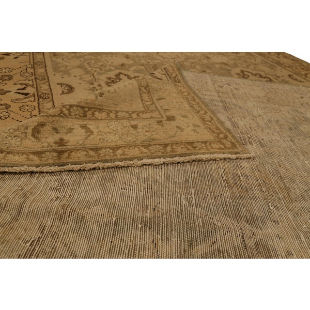 Contemporary Antique Persian Malayer Rug With Beige & Brown Botanical Details on Ivory Field- 5′6″ × 11′8″ For Sale - Image 3 of 4