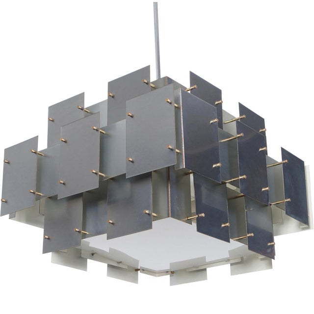 "Vintage ""Cityscape"" Chandelier by Robert Sonneman - Image 7 of 7"
