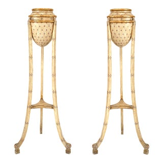 Early 20th Century Italian Neo-Classic Painted Fernery-a Pair For Sale