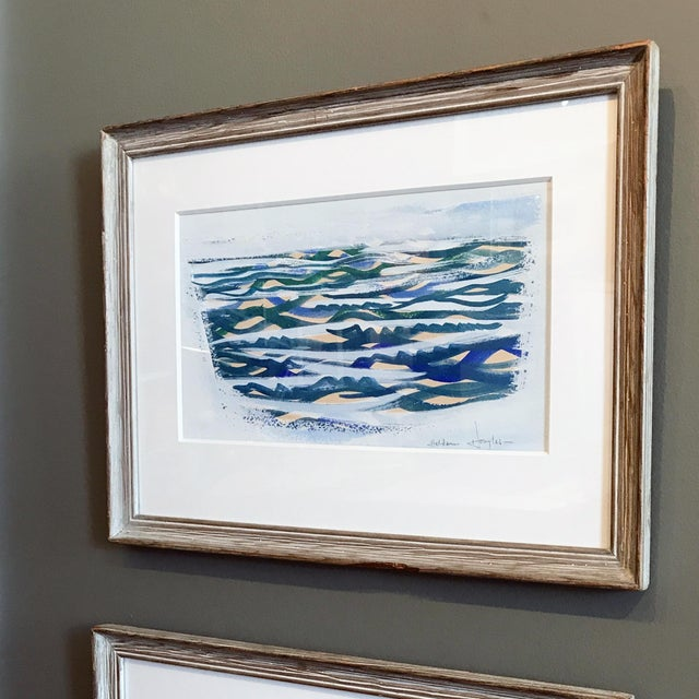 Abstract 1940s Haldane Douglas Seascape II Painting For Sale - Image 3 of 11