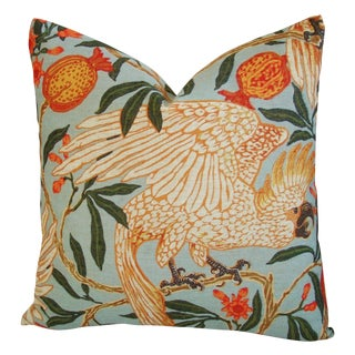 Parrot & Pomegranate Linen Feather/Down Pillow