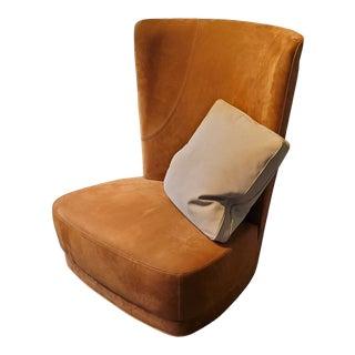 Baxter Etienne Bergere Armchair & Accent Pillow For Sale