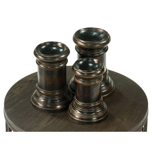 Sarreid Ltd. Round Wood Decorative Bases - Set of 3 For Sale - Image 4 of 4