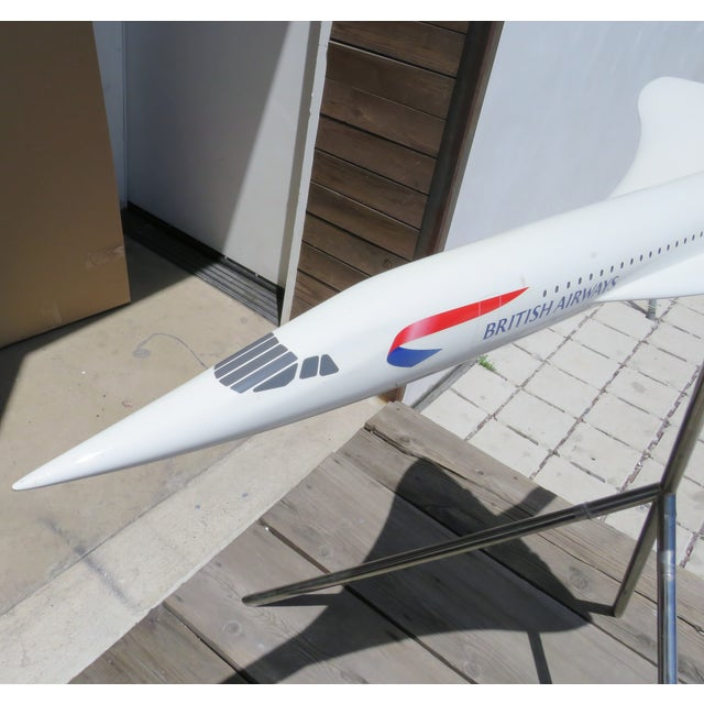 Large-Scale Concorde Jet Model, on Stand For Sale In Los Angeles - Image 6 of 12
