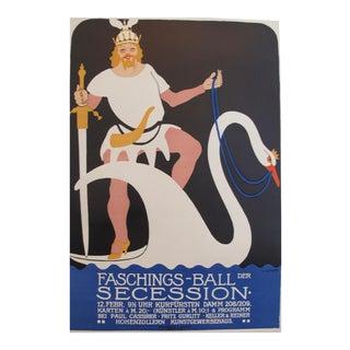 Rare 1910 Julius Klinger Poster, Costume Party