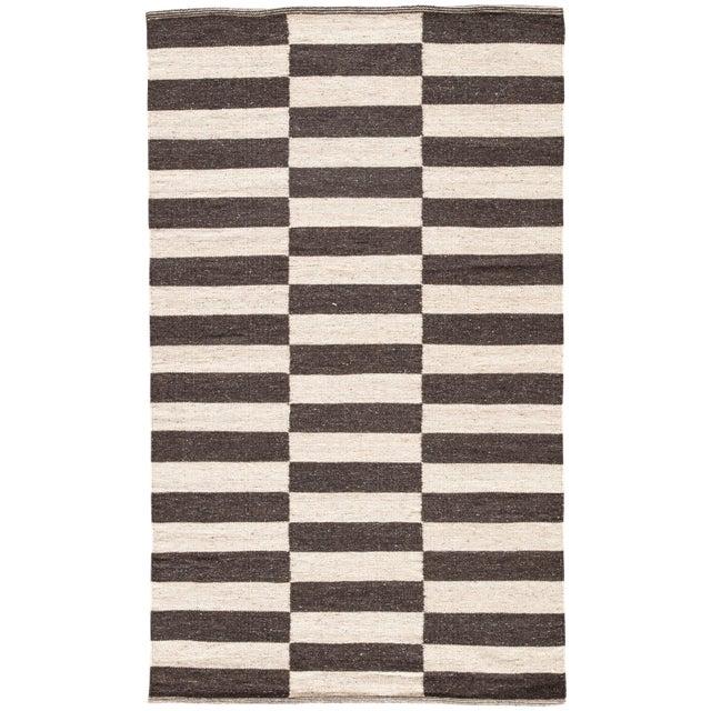 Jaipur Living Demi Handmade Striped Brown/ Cream Area Rug - 2′ × 3′ For Sale In Atlanta - Image 6 of 6