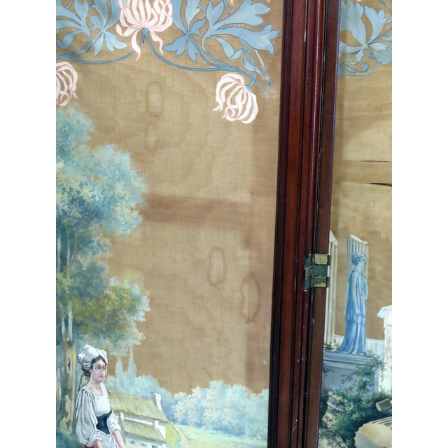 Aesthetic Victorian 4 Panel Screen For Sale In Philadelphia - Image 6 of 13