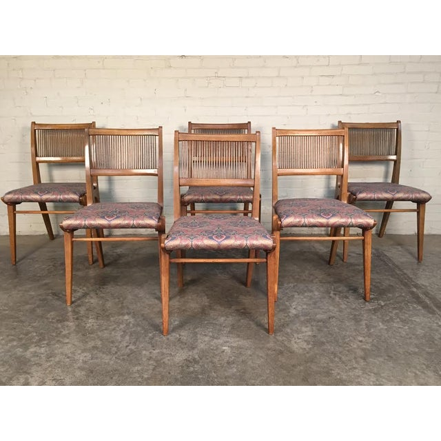 John Van Koert for Drexel Dining Set With Six Chairs - Image 8 of 11