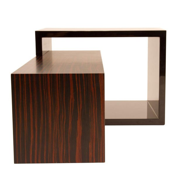 Contemporary Contemporary rosewood and bead coffee table by Alire De Alvarez For Sale - Image 3 of 6