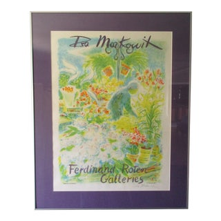 Abstract Garden Lithograph by Isa Markowit -Signed For Sale