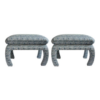 Edie Benches in Bargello - a Pair For Sale