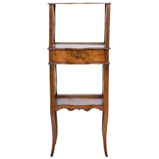 19th Century Provincial Walnut Standing Etagere For Sale