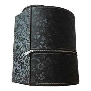 Vintage Black Floral Hat Box