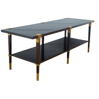 Andre Arbus 'Avenue' Ebonized Walnut Cocktail Table For Sale