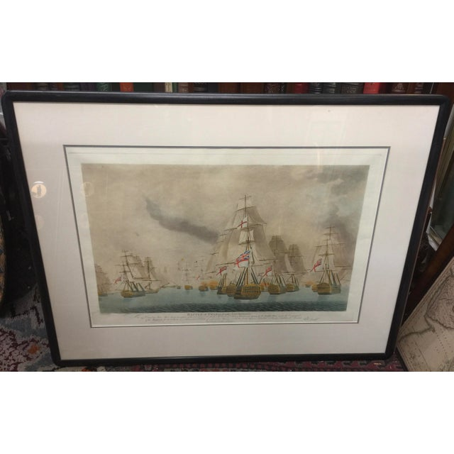 1920s Battle of Trafalgar Lithograph Nautical For Sale - Image 5 of 5