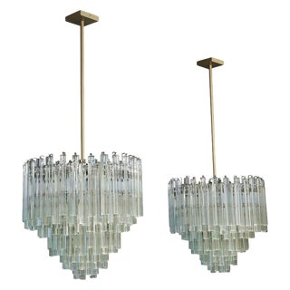 1960s Camer Scale Crystal Chandeliers-a Pair For Sale
