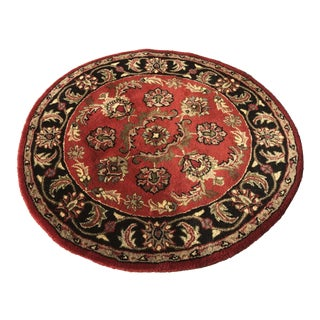 "Round Virgin Wool Rug -- 3'9"" x 3'9"" For Sale"