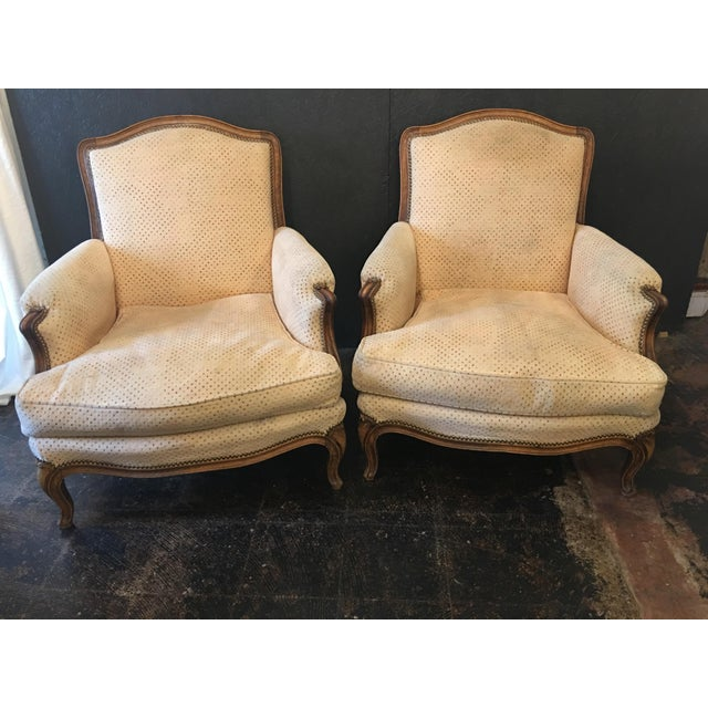Louis XV Style Bergeres - a Pair For Sale - Image 11 of 11