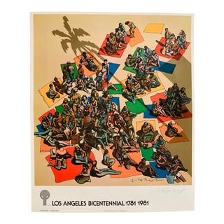 1980s Los Angeles Bicentennial Signed Milton Glaser Poster For Sale