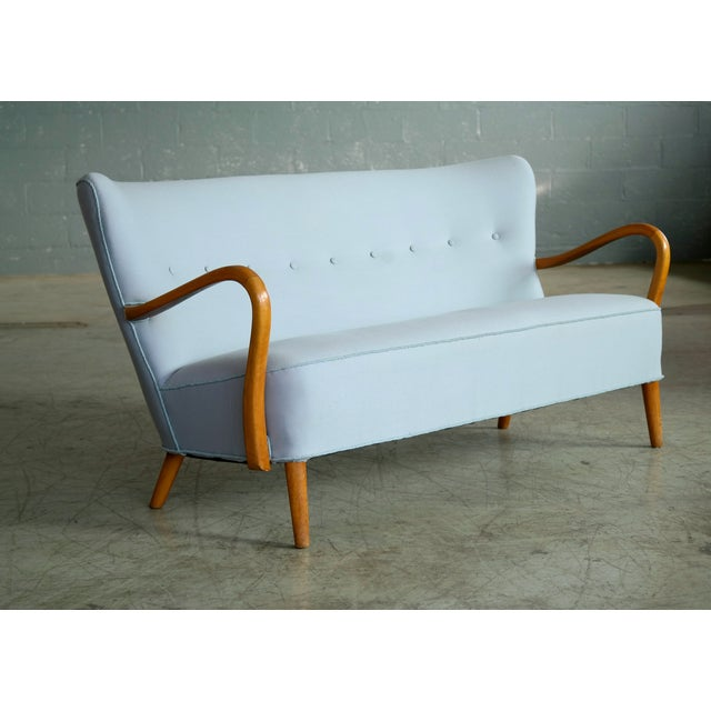 1940s Danish Sofa With Open Armrests by Alfred Christensen for Slagelse For Sale - Image 4 of 9