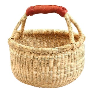 Small African Woven Basket For Sale