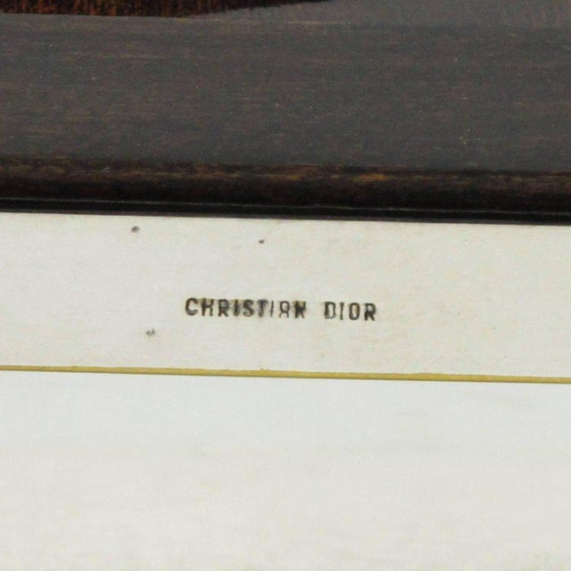 Christian Dior Paris Modernist Silver Plate Picture Photo Frame - Image 6 of 7