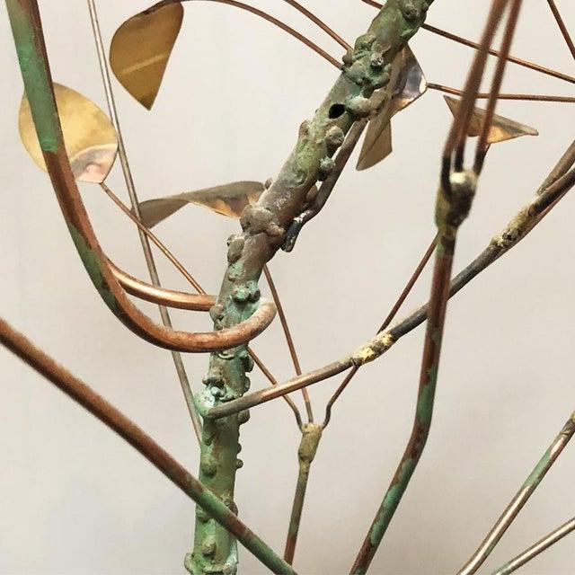 1970s Curtis Jere Brass Tree Birds Nest Floor Sculpture For Sale - Image 5 of 12