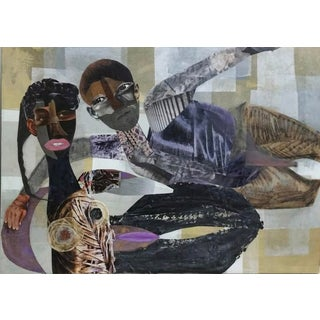"""Mona Dworkin """"He's So Fine"""" Mixed Media Artwork on Canvas For Sale"""