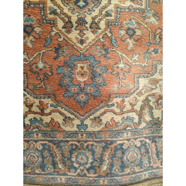 "1980s Vintage Heriz Serapi Karastan Rug- 4'3"" X 6' For Sale - Image 5 of 7"