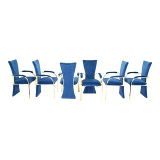 Six 1980s Hollywood Regency Style Dining Chairs