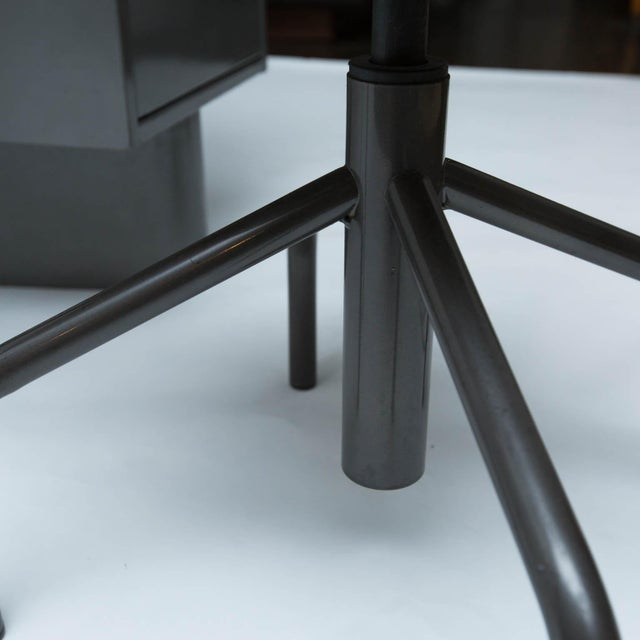 Vintage Metal Student Desk and Swivel Chair - Image 7 of 11