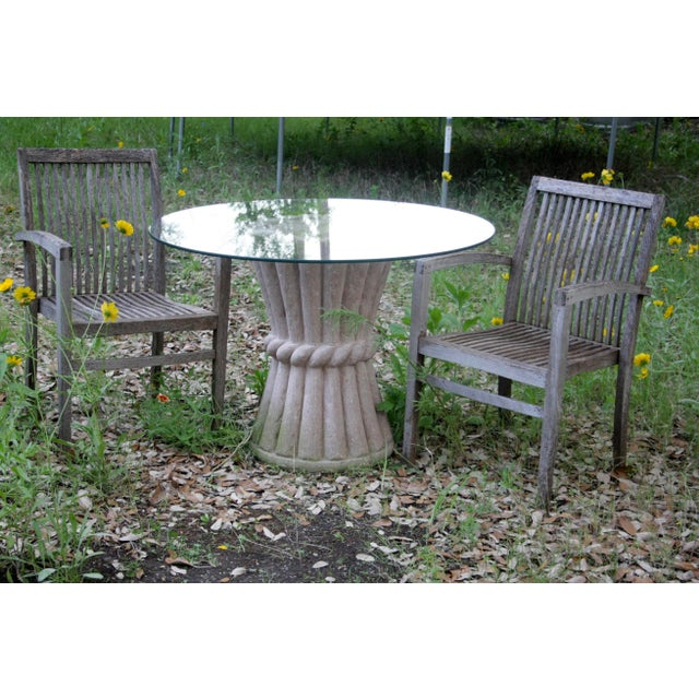 Carved Pink Cantera Stone Dining Table, Hall Table or Patio Table For Sale In Dallas - Image 6 of 11