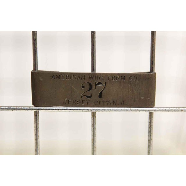 Americana American Wire Form Co. No. 27 Metal Basket For Sale - Image 3 of 5