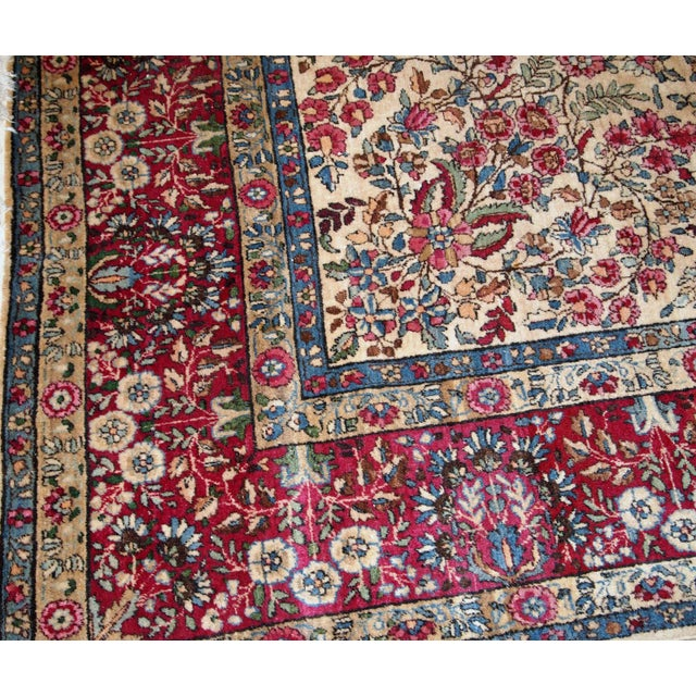 1900s, Handmade Antique Persian Kerman Lavar Rug 8.9' X 11.6' - 1b701 For Sale - Image 4 of 13