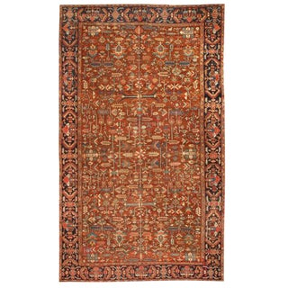 Antique Oversize Persian Heriz Carpet For Sale